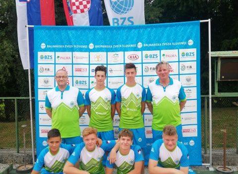 Martin Burdych  prvi nastop U – 15  za Slovensko reprezentacijo